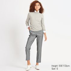 Ankle Length Pants, Ankle Pants, Pull On Pants, Slim Pants, Formal Looks, Houndstooth, Work Wear, Uniqlo, What To Wear