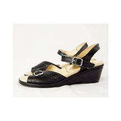 Vintage Worishofer Buckled Wedge Sandals // by winsomeandwayward, $30.00