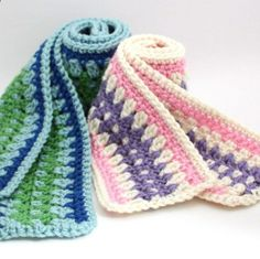 Free Crochet Pattern - Galilee Scarf     //      Portable way to make strips to join into afghan for baby or adult!
