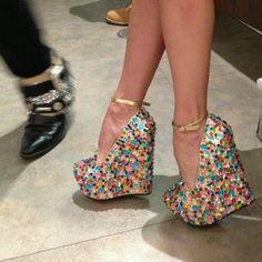 91e206f7c99 Adorable multi color wedges Cute Shoes