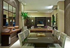 Decor Salteado - Blog de Decoração | Arquitetura | Construção | Paisagismo: Mesa com aparador embutido em salas de jantar e cozinhas – veja modelos lindos!