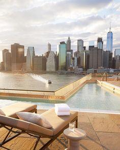 Manhattan views at 1hotel's plunge pool