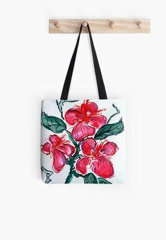 All Purpose Travel Shopping Zipper Tote Bag w//Coin Purse Ocean Bloom Flower