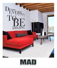 """bathroom? Wandtattoo - Wandtattoo """"DON`T WORRY...""""Gr.M: 84cm x 80cm - ein Designerstück von Motif-Art-Decor bei DaWanda"""