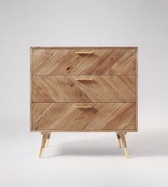 Halle Chest Of Drawers In Natural Mango Wood & Brass Cool Bedroom Furniture, Wooden Bedroom, Bedroom Ideas, Nordic Furniture, Furniture Design, Funky Furniture, Plywood Furniture, Bedroom Inspiration, Luxury Furniture