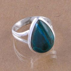 925 SOLID STERLING SILVER CHARSOCOLLA FASHION RING 5.11g DJR2498 S-7 #Handmade #Ring