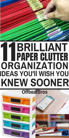 Reduce paper and get organized with these brilliant paper clutter organization ideas. We all know organizing paper clutter is hard but these paper clutter organization ideas will help you organize and get rid of paper cluuter easily and forever. Organizing Paperwork, Clutter Organization, Small Space Organization, Home Office Organization, Paper Organization, Organizing Paper Clutter, Organizing Tips, Bathroom Organization, Organising