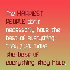 The Happiest People~