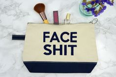 Make Up Bag Cosmetics Bag Face Sht Face Sht by MarkingOurHome