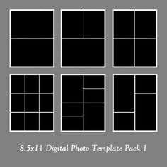 8.5x11 Photo Template Pack Collage by LoveurstyleDesigns on Etsy, $11.00