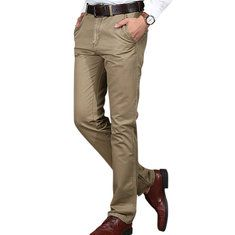 Mens Fall Winter Thick Warm Corduroy Solid Color Casual Business Straight Pants Online-NewChic Mobile