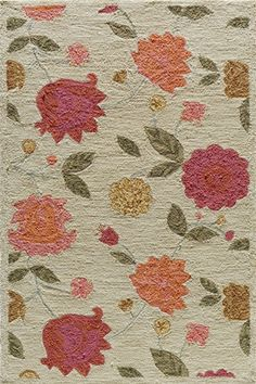Rosenberry Rooms has everything imaginable for your child's room! Share the news and get $20 Off  your purchase! (*Minimum purchase required.) Summit Fresh Flowers Rug #rosenberryrooms