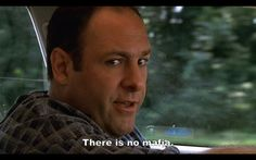 """Tony Soprano reminding us of the old quote: """"the loveliest trick of the Devil is to persuade you that he does not exist"""""""
