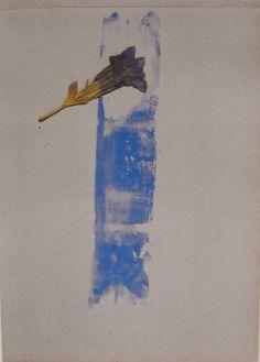 """""""Dibujar—dice Beuys— es, ante todo, la meditación de una existencia que no puede serlo sin misterios.""""  Cáliz 1955"""