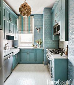 Jurnal de design interior - Amenajări interioare, decorațiuni și inspirație pentru casa ta: Bucătărie amenajată în albastru
