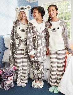 Polar Bear Fleece Pajama Top | Girls Sleepwear Sleep & Undies | Shop Justice