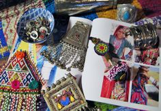 Sorting tribal treasures.