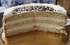 Vanilla Cake, Tiramisu, Tart, Sweets, Ethnic Recipes, Food, Cakes, Tumblr Backgrounds, Raffaello