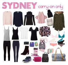 """""""Sydney: Carry on only for 4 days in Winter"""" by holliejade on Polyvore Travel Packing Outfits, Packing Clothes, More And Less, Carry On, Sydney, Winter, Polyvore, Fashion, Winter Time"""