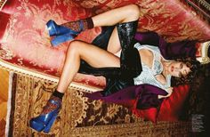 Natalia Vodianova Plays Pin-Up for Jalouse July/August 2012   Fashion Gone Rogue: The Latest in Editorials and Campaigns