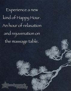 Go schedule your massage now!