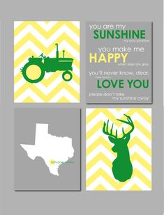 Boy room decor john deere nursery art deer tractor by for International harvester room decor