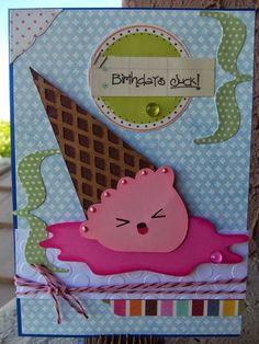 DoubleClick - AKA Abusybee: Birthdays Suck! And so does fallen ice-cream! Scrappy Mom Stamps Challenge! In the Kitchen!