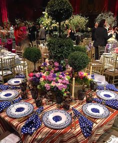 Oscar de la Renta table at the Lenox Hill Gala 2015