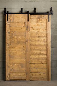 Solution to hide laundry area:  Barn Door Hardware - Bypass Sliding Door