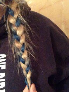 Rough blue and blonde plait :)
