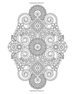 Flower Designs Coloring Book Volume 1 Jenean Morrison 9780615983981 Amazon Mandala PagesDoodle