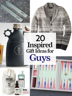 From gourmet eats to high-tech gear, these thoughtful finds are sure to suit dads, brothers, and husbands.