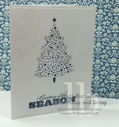 seasons greeting tree stampin up simple card clean