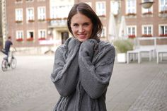 Zopfmuster, graue Strickjacke, Ernsting's family, Strick, Herbsttrend