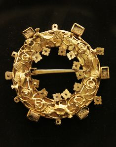 1880 Germania rubino? Special Section Spilla Oro Con Rosso Pietre
