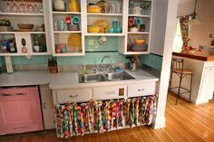 turqoise and colorful playhous kitchen, kitchen colors, small kitchens, colorful kitchens, color kitchen, kitchen paint colors, kitchen ideas, fiesta kitchen, dream kitchens