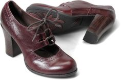 Rosel/burgandy/Born Shoes- bought these today at Marshalls!  Comfy considering the heel!