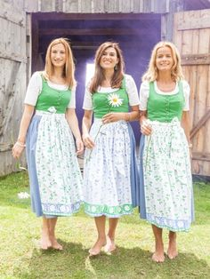 Barefoot girls in Dirndl