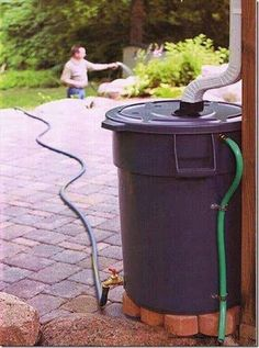 No excuse to not set up a rain water catchment system when it's this inexpensive and this simple.
