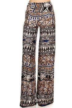 Gorgeoud Tribal palazzo pants fold over waist S M by Foreverpeace