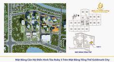 Sơ đồ thiết kế mặt bằng căn hộ tòa ruby 103 chung cư Goldmark City