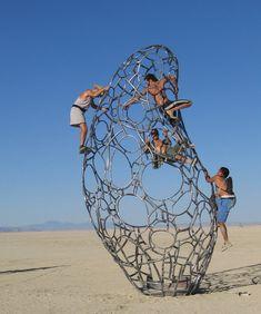 """Popular climbing sculpture """"Celestial Body"""" (Brad's Photos)"""