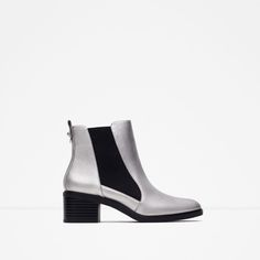 ZARA - WOMAN - ELASTICATED HIGH HEEL ANKLE BOOTS
