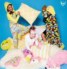 Even a pillow fight feels like a tickle with the super plush, smile-making accessories from our sleepwear collection.