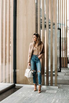 HelloFashionBlog: My favorite budget friendly high waisted denim and neutral bodysuit