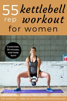 6 exercises, 55 reps, total body strength and conditioning kettlebell workout. perfect at-home or gym workout that targets your full body – upper Kettlebell Training, Crossfit Kettlebell, Upper Body Kettlebell Workout, Kettlebell Exercises For Arms, Upper Body Exercises, Kettlebell Routines, Kettlebell Deadlift, Workout Exercises, Butt Workout