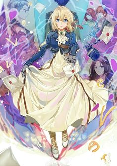 kawaii violet evergarden, and anime girl