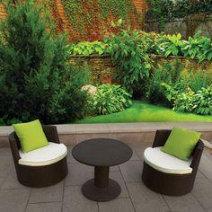 3 PC Lounge outdoor Indoor Patio Deck Furniture set Wicker Aluminum  #deeco