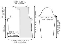 Adult woman open-front sweater measurements