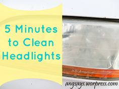 cleaning headlights
